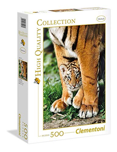 Clementoni 35046 Clementoni-35046 Collection-Bengal Tiger Cub Between Its Mother's legs-500 Pieces, Various