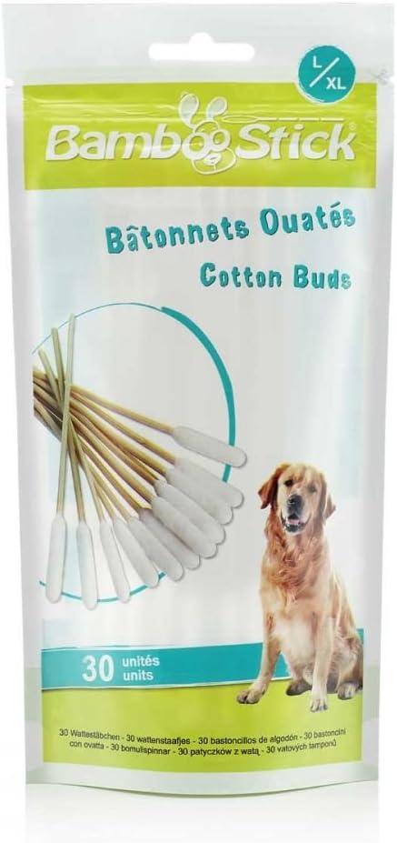JAK BambooStick - Paquete de 30 Bastones de algodón para Mascotas ...