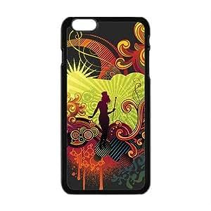 Creative Girl Graffiti Custom Protective Hard Phone Cae For Iphone 6 Plus
