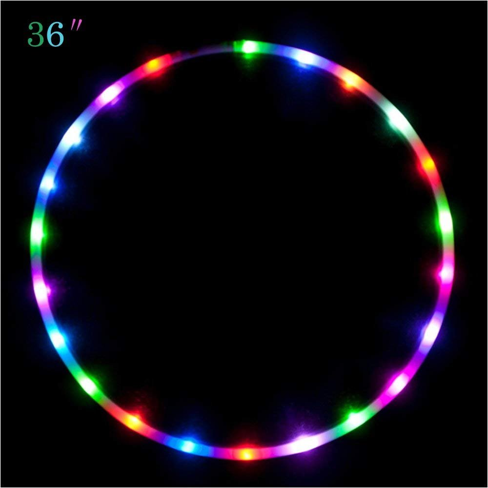 Maylai 36'' Led Hula Hoop for for Kids and Adults Changing LED Lights Light weight Hula Hoops by Maylai (Image #4)