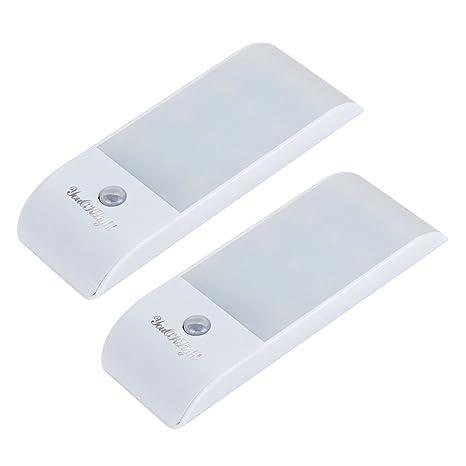 LEDMOMO Luces Led con Sensor de Movimiento Lámpara Nocturna de Dormitorio Apliques Baño 2 Piezas