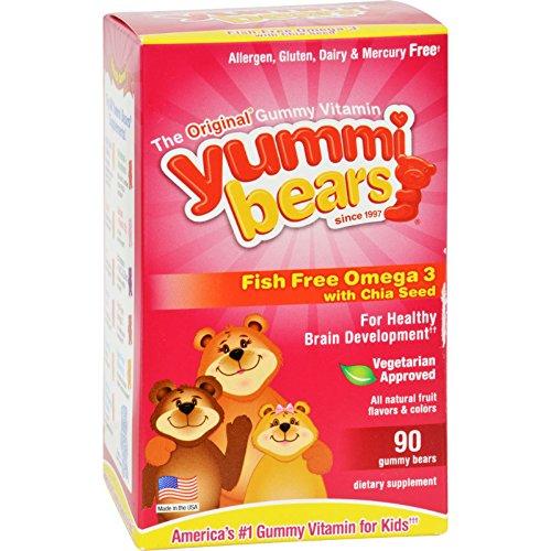 Hero Nutritionals Yummi Bear - Omega 3-6-9 - 90 Count , Kid ,Toy , Hobbie , Nice Gift