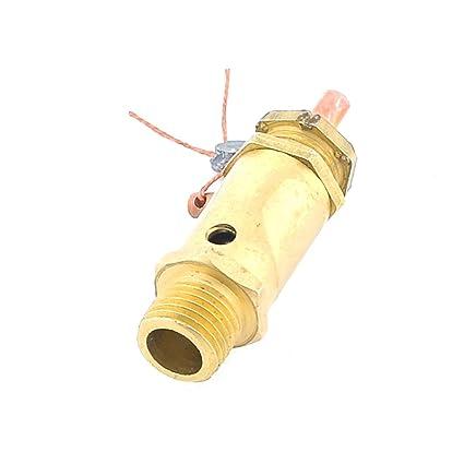 0,64 cm PT rosca macho compresor de aire ayuda a aliviar las tensiones válvula