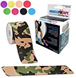 Camouflage MUSCLE FIX Kinesiology Support Athletic Sports Injury Therapy Kinetic Tape PreCut PRO Roll (20 Strips 10 in X 2 In / 25 cm x 5 cm) Plantar Fasciitis