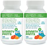 SmartyPants Kids Fiber Complete with No Sugar Added, Multi plus Omega 3 plus Vitamin D, 120 Gummies (2 Pack)