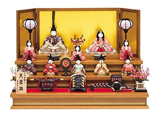 雛人形 真多呂 木目込み ひな人形 芙蓉雛セット 10人 十人飾り 3段飾り 三段飾り   B07KNZ64M5