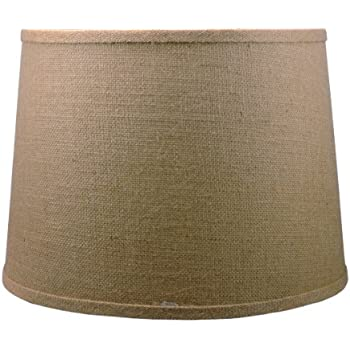 Drum lamp shade 16 burlap natural amazon urbanest french drum burlap lampshade 12 inch by 14 inch by 10 aloadofball Image collections