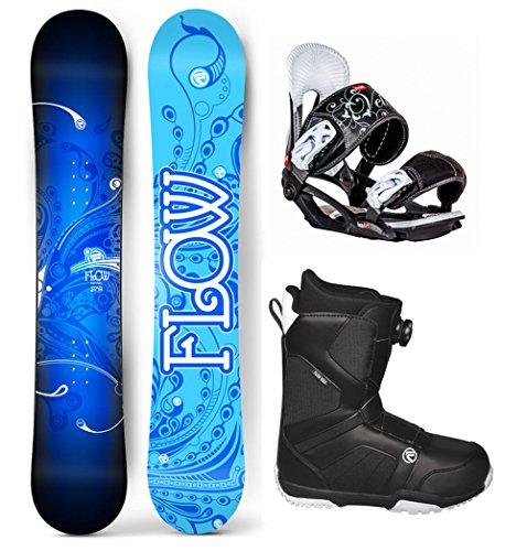 Flow 2018 Star Women's Complete Snowboard Package Head Bindings BOA Boots 4 YR WARRANTY- Board Size 147