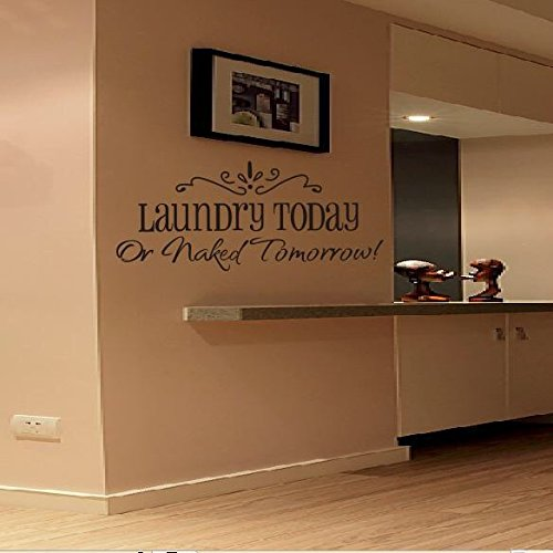 Decorstyle Removable Vintage Wall Stickers Bathroom / Laundry Room/ Family Room/ Play room /Toilet Door Sign Vinyl Art Decals (Laundry Room) -