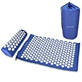 Best Back Pain Acupuncture Mats - Navaris Acupressure Mat and Pillow Set - Acupuncture Review