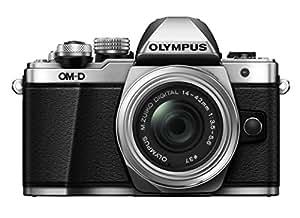 Olympus V207051SU000 OM-D E-M10 Mark, Mirrorless Digital Camera with 14-42mm, R Lens, Silver