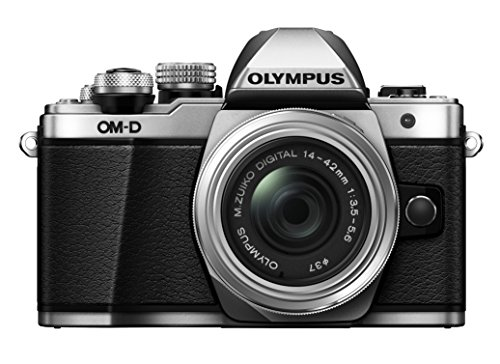 Olympus OM-D E-M10 Mark, Mirrorless Digital Camera with 14-42mm, R Lens, Silver