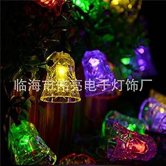 amazon co jp jinyidian shop the ledライト文字列 ベル ソーラー