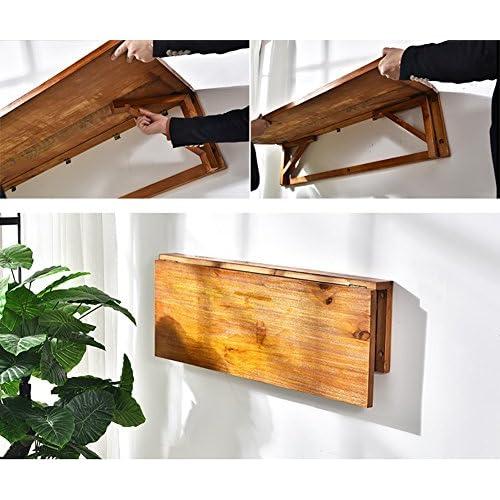 Best Table Pliante Suspendue à Mur En Pin Table De Chevet Montée Au