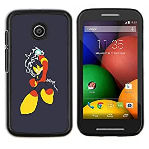 LECELL--Funda protectora / Cubierta / Piel For Motorola Moto E -- Red Superhero Amarillo --