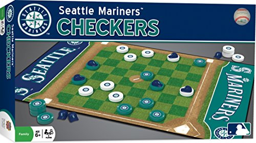 MasterPieces MLB Seattle Mariners Checkers Board Game