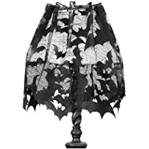 Heritage Lace Going Batty 60-Inch Wide by 20-Inch Drop 4-Way, Black