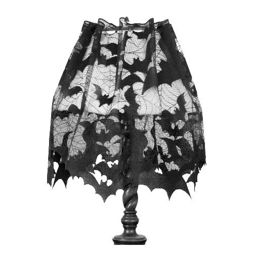 Heritage Lace Going Batty 60-Inch Wide by 20-Inch Drop 4-Way, Black ()