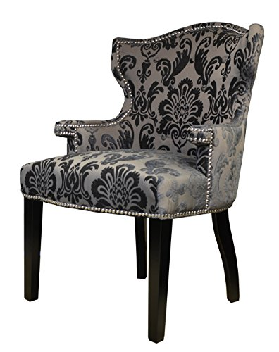 HD Couture Brittania Fan Damask Chair, Mink