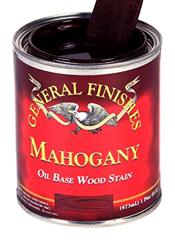 General Finishes MAQT Oil Based Penetrating Wood Stain, 1 Quart, Mahogany ()