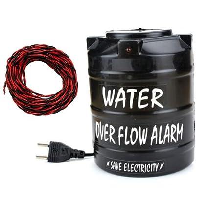 Yugg Plastic Water Overflow Alarm with 15 Meter Wire & Sensor (AC)