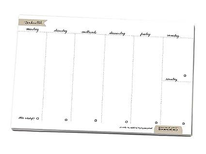 A4 semanal para todos tus tareas & to do s, denkzettel ...