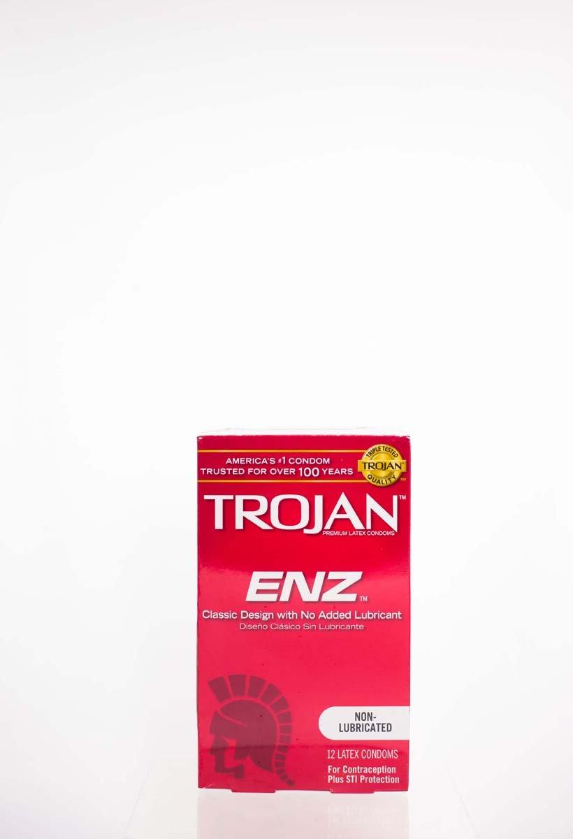 Trojan Non-Lub Latex Condoms, Enz 12 ct - 4pk