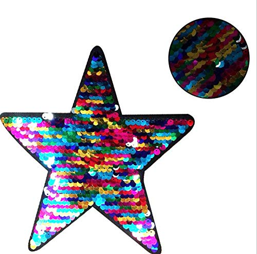 SMALL-CHIPINC - Patch sequins five-pointed star embroidered patches for clothes DIY clothing Brand luxury Christmas gift