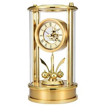 HBWJSH Moderno y Minimalista Reloj de sobremesa Europeo, silencioso Reloj de Moda, Sala de Estar, Mesa Creativa, Reloj de Mesa: Amazon.es: Hogar