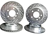 1991 thru 1998 BMW 318i 318iS E36 Front & Rear Brake Disc Rotors +Hawk HPS Pads