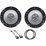 Kenwood 6.5 Front Factory Speaker Replacement Kit For 2003-2007 Honda Accord