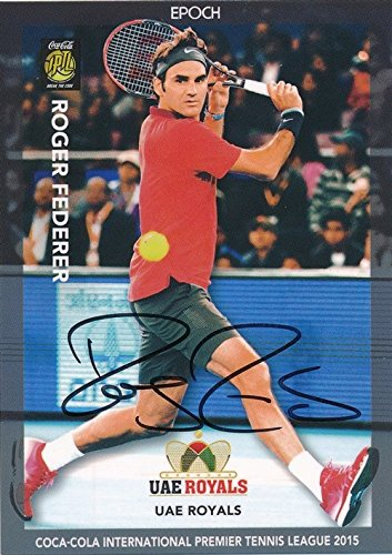 Roger Federer 2015 Epoch Iptl Tennis On Card Autograph  6 11 Shortprint 1 1 Mint  Incredible Rare Low Numbered Hand Signed Autograph Card Of Tennis Legend  International Premiere Tennis League