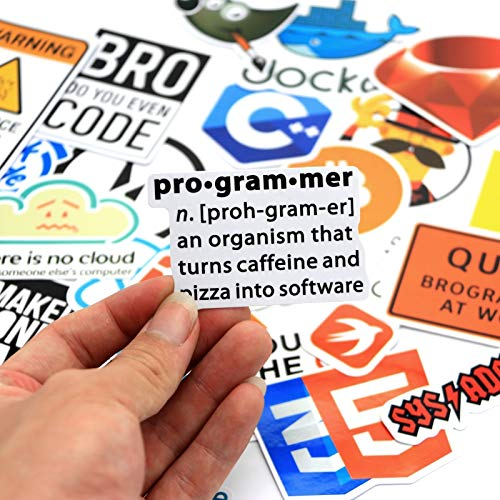 Laptop Stickers (100PCS) Developer Sticker Computer Skins & Decals Good Gift for Programmer IT and Technology Practitioners