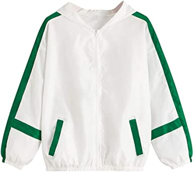 Fashion Womens Floral Cartoon Long Sleeve Baseball Uniform Coats Loose Jackets