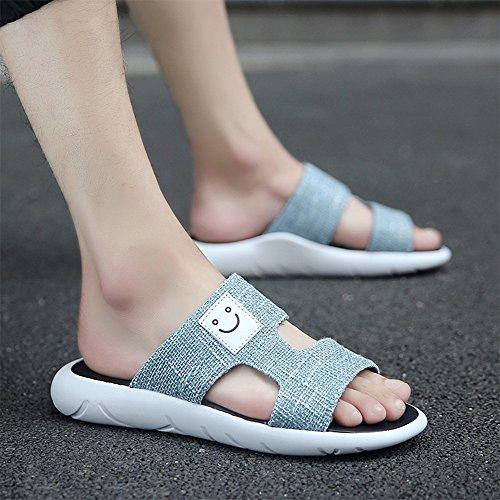 xiaxia Herren Hausschuhe PU Farbe Optional Beach Shoes Trend Freizeit Persönlichkeit 2