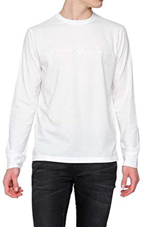 78206050 Amazon.com: Pierre Balmain Logo White Long Sleeve Tee, White ($275 ...