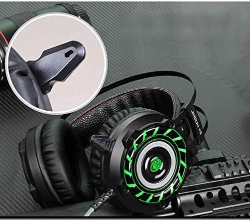 HNSYDS ゲーミングヘッドフォンヘッドマウント調節可能なイヤークッション通気性の快適さを身に着けるには、2つの色が選択することができます耳を圧迫しません ゲーミングヘッドセット (Color : Red)