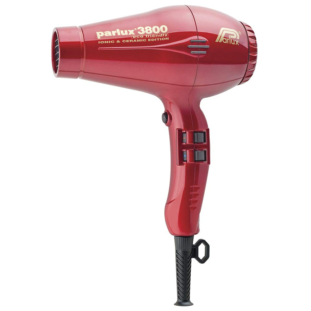 Parlux 3800 Eco Friendly Ceramic Ionic Hair Dryer – Red