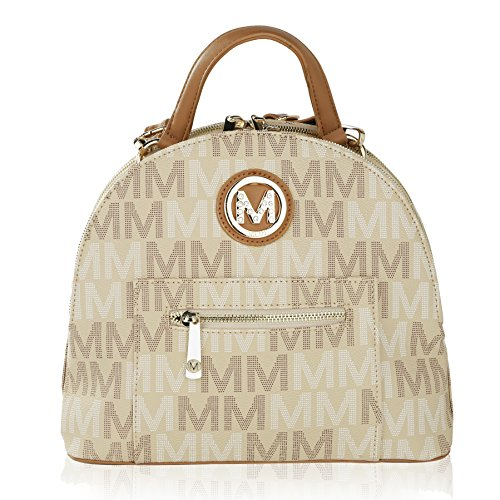 MKF Collection by Mia K. Farrow Ariel 2 in 1 Shoulder Bag and Backpack (Beige)