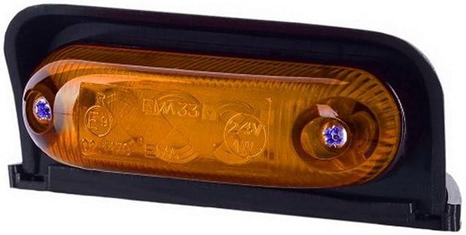 1 X 3 Smd Led Orange Dachleuchte Begrenzungsleuchte Seitenleuchte 12v 24v Mit E Prüfzeichen Positionsleuchte Anhänger Wohnwagen Lkw Pkw Leuchte Auto
