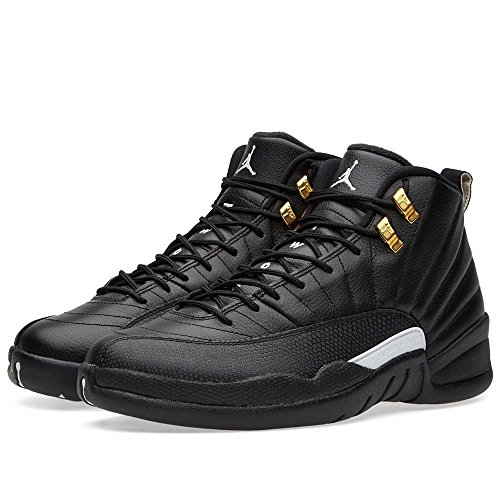 Nike Air Jordan Retro 12 Mens Black White Black Metallic Gold 136090-013 (7.5) by NIKE
