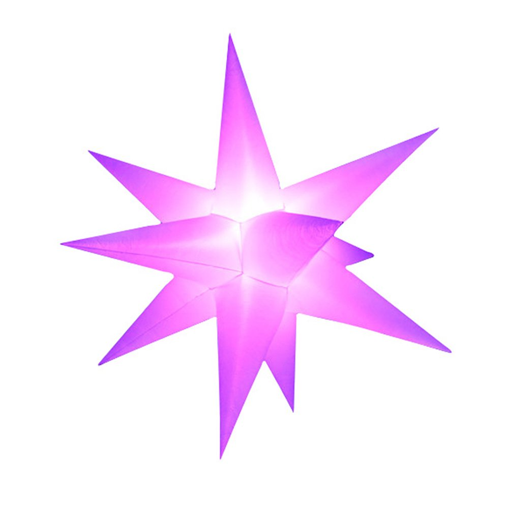 Sayok LED Inflatable Star Decorations for Holidays, Event, Parties with Led RGB Light, Remote Controller and Inner Air Blower (4.92ft, 11 Spike ) by Sayok
