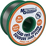 MG Chemicals 4900-112G SAC305, 96.3% Tin, 0.7% Copper, 3% Silver, No Clean Lead Free Solder, 0.032'' Diameter, 1/4 lbs