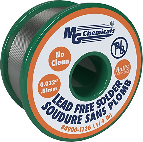mg-chemicals-sac305-963-tin-07-copper-3-silver-no-clean-lead-free-solder-0032-diameter-1-4-lbs-spool