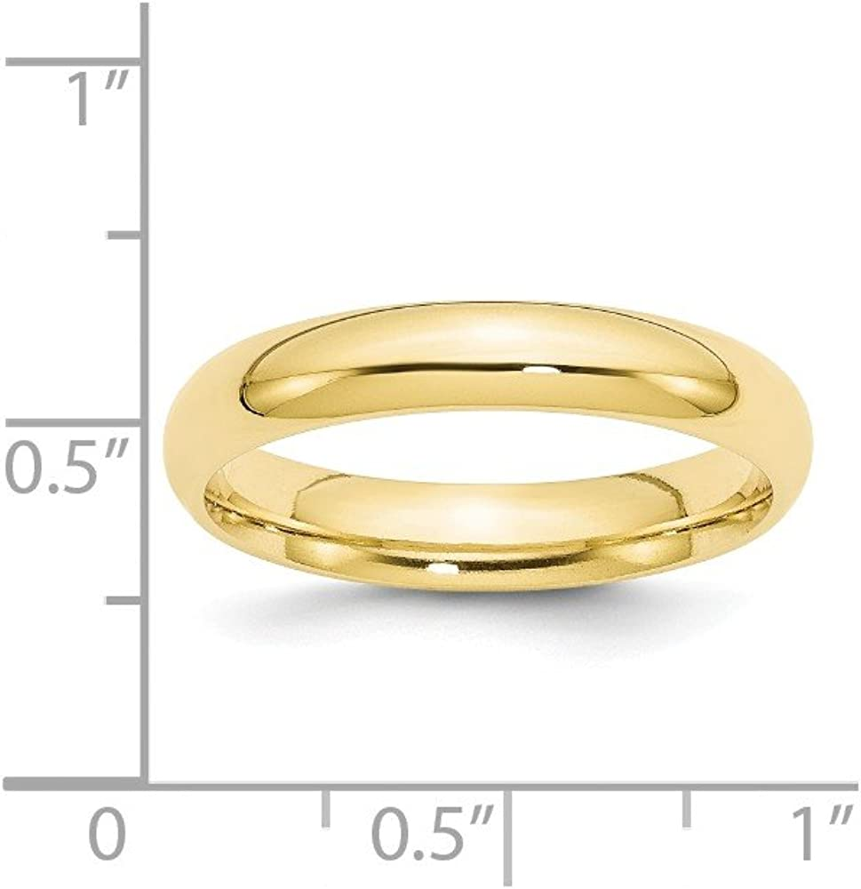 BRIDALCOLLECTION 10K Yellow Gold 4.00MM Comfort Fit Wedding Band Ring