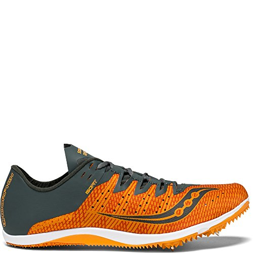 Saucony Men's Endorphin 2 Track and Field Shoe, Orange/Grey, 10 Medium US (Best Track Shoes For Mid Distance)