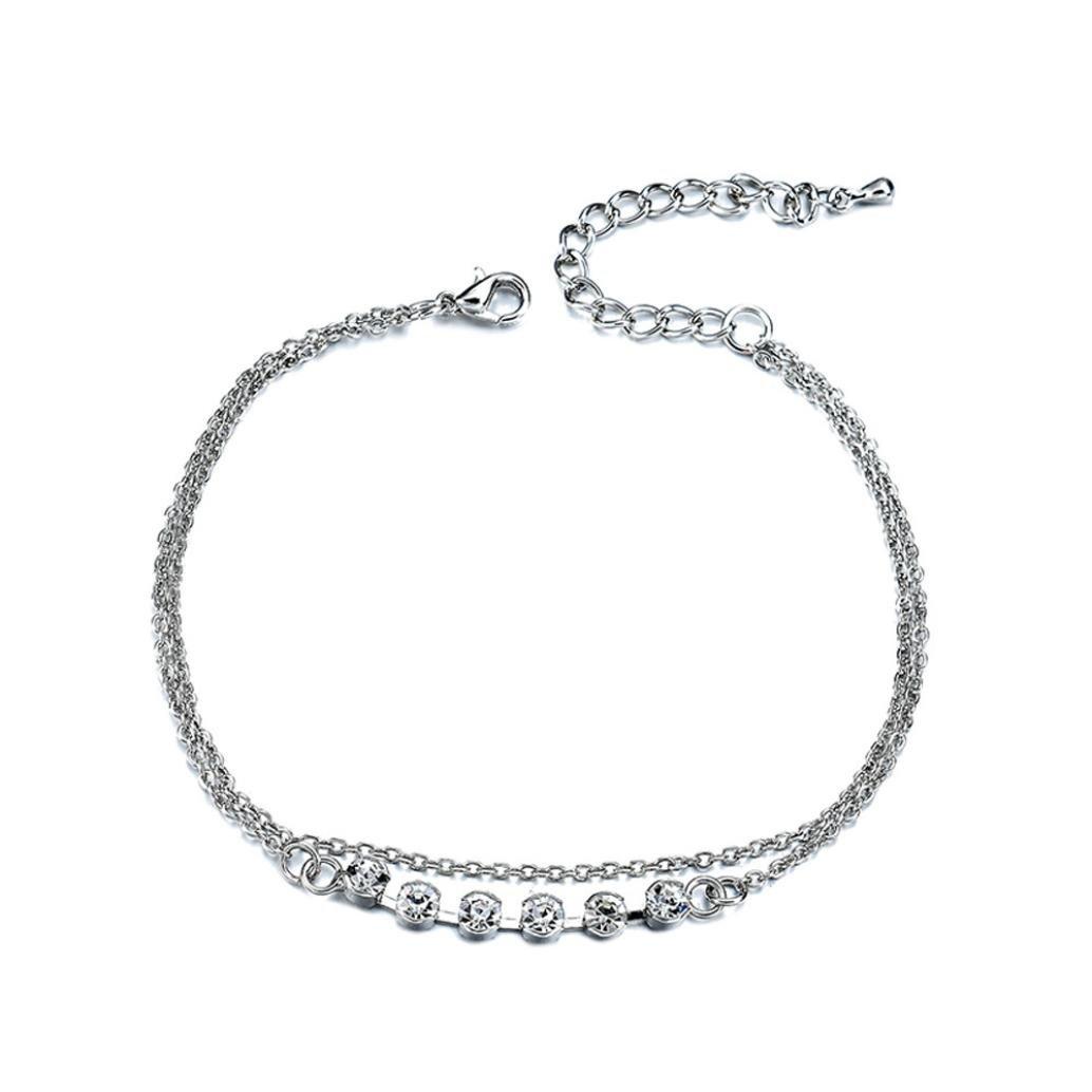 TOPUNDER Barefoot Sandal Beach Foot Chain Sliver Charm Anklet Bracelet Gift by
