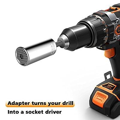 Universal Socket,Kusonkey Professional 7mm-19mm Universal Sockets Tools Gifts for Men Him Husband Dad Father DIY Handyman Women