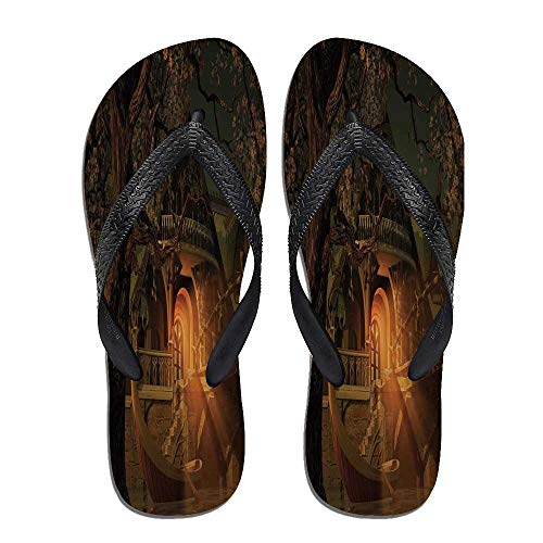 (Fantasy Stylish Flip Flops,Enchanted View with,for Men&Boys)