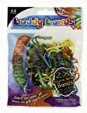 Buddy Bands - Dragons - 12 Pack 2X Double Wrap Bands, Tie Dye Colors (Compare to Silly Bandz, Zany Bands, Goofy Bands, Disney Bands, and Stretchy Shapes) Check Out All the Buddy Band Shapes and Styles!